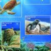 Francobolli celebrativi con a tema la vita delle tartarughe marine (MC)