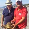 Tartaruga salvata da un pescatore al largo di Furci Siculo (ME)
