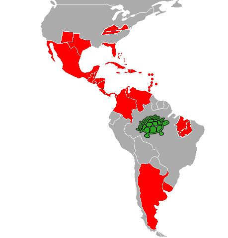 mappa diffusione trachemys tartapedia